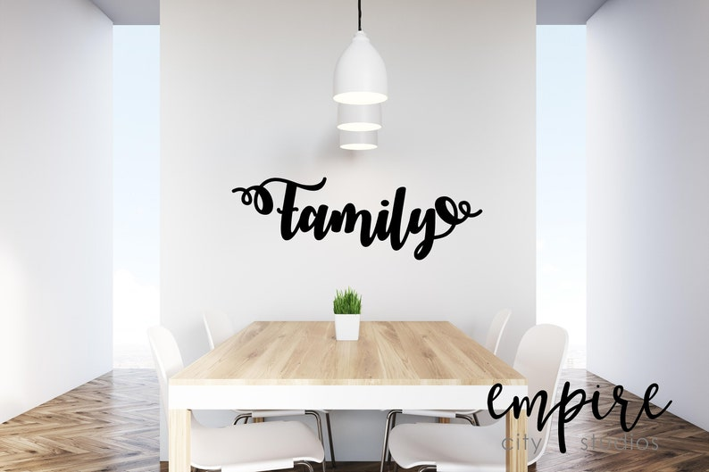 Family Word Decal-Family Vinyl Decal-Home Decor-Family Wall image 0