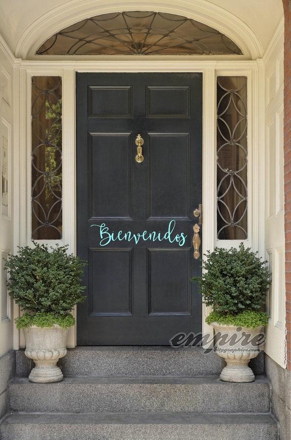 Bienvenidos Front door decal-Bienvenidos decals-Welcome Door Decal-Spanish Welcome Decal