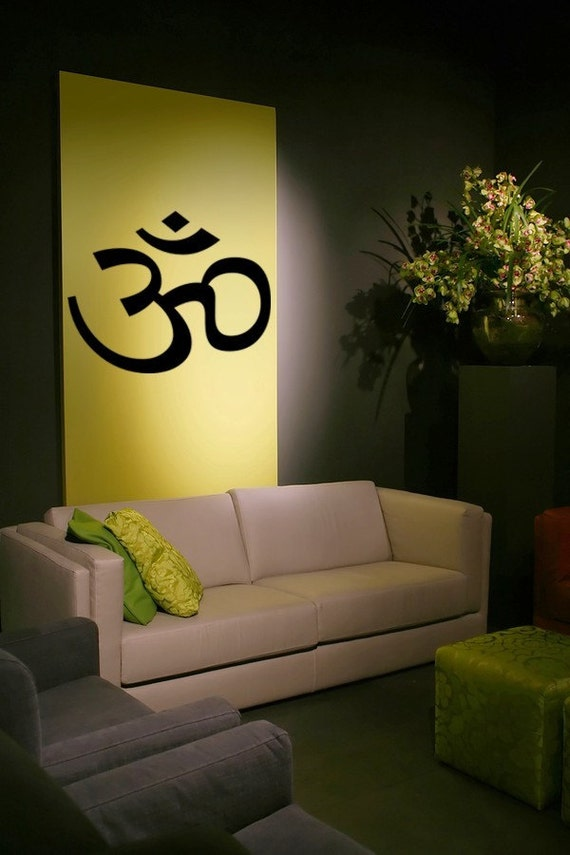 Om wall decal, Vinyl Decal Wall Art Sticker, Om Symbol, Namaste Decal, Spiritual Sticker