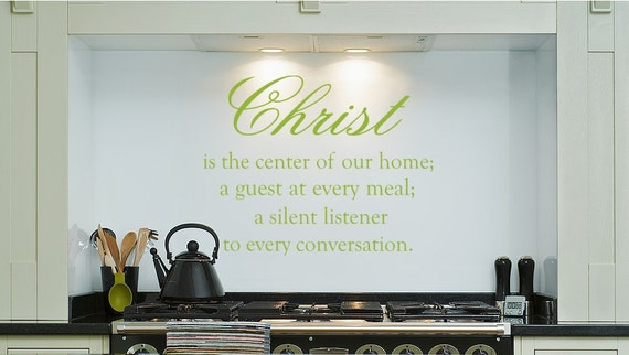Christ is The Center Spiritual Decal Vinyl Wall Decal