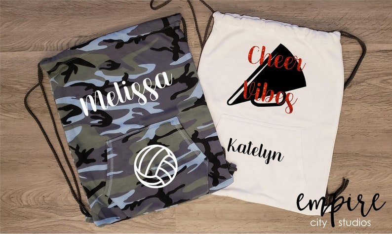 Cheer bag-Cheer Pride cinch pack-Cheerleading Sweatshirt back image 0