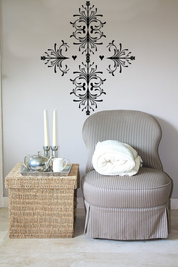 Victorian Cross Design Vinyl Decal Wall Art