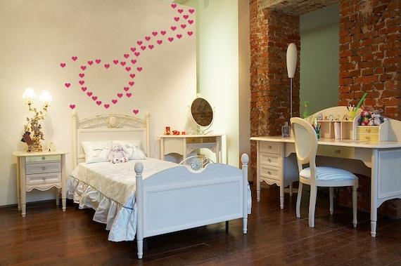 Mini Heart Decals Sticker Wall Art Mini Hearts Vinyl Decals