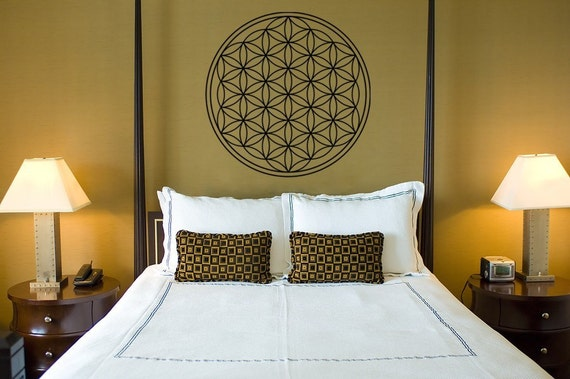 Flower of Life Vinyl Wall Decal, flower of life decal, Seed of Life decal, Namaste spiritual decal, Great Fathers Day Gift