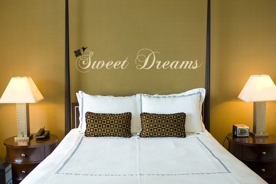Vinyl Wall Art Decal Sticker Quote Sweet Dreams