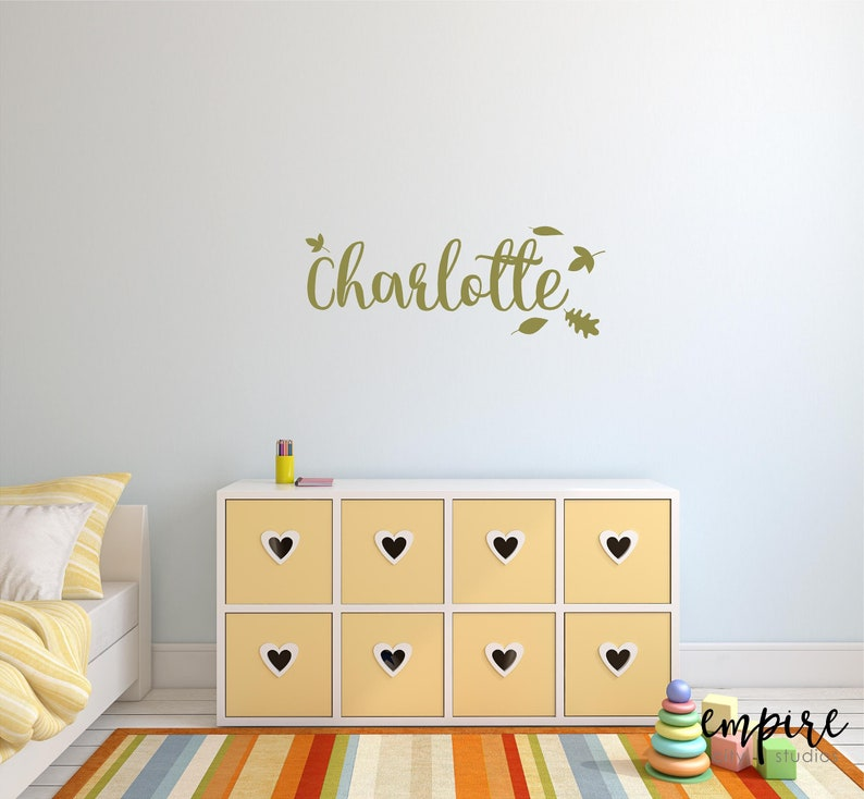 Girl Nursery Decal-Flower Name Decal-Personalized Names-Girls image 0