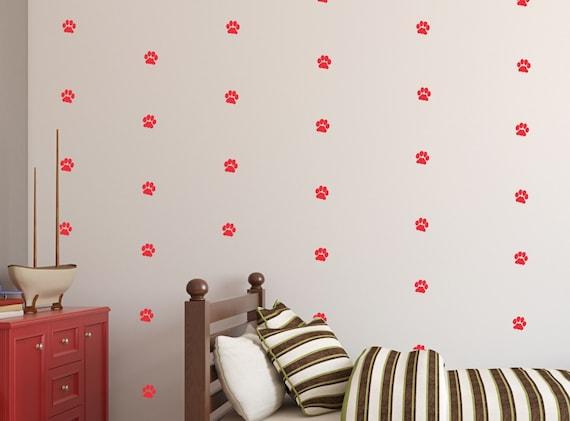 Dog Prints Wall Decal Dogs Vinyl Decal Wall Art Baby Boy or Girl Nursery