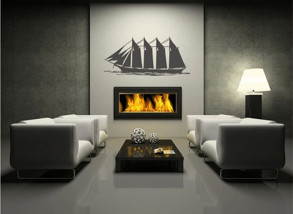 Nautical Ship Vinyl Decal Wall Mural