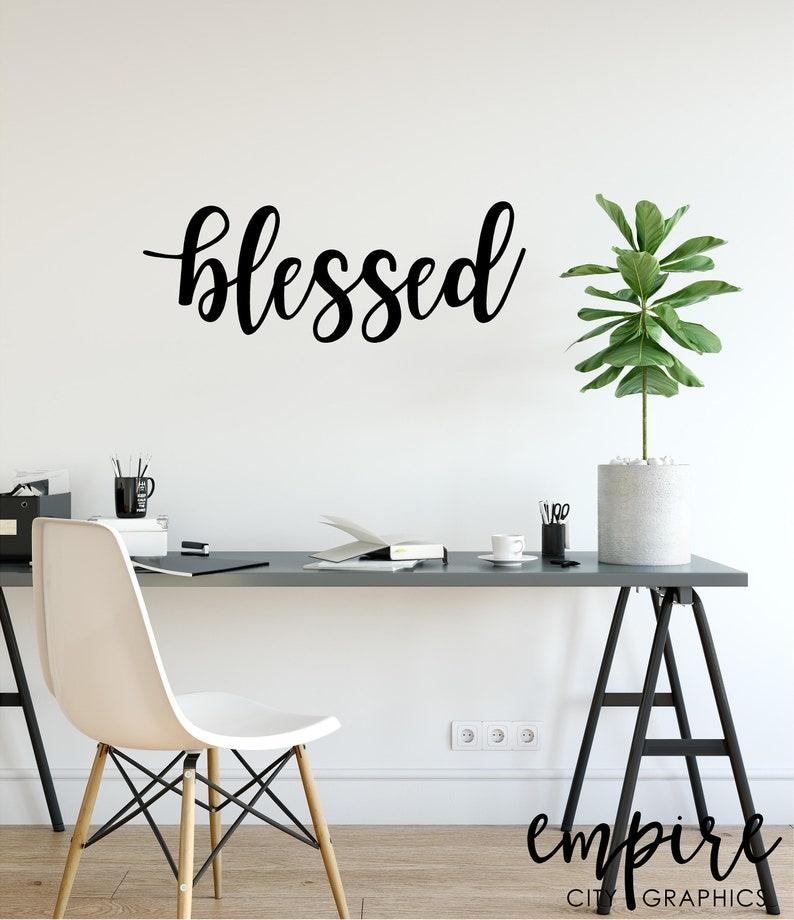 Blessed Sign-Blessed Wall Sign-Blessed Wall Decor-Wedding image 0