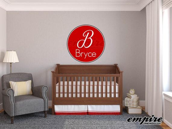 Boys Name Decals, Boys Nursery decals , Girls Nursery decals, Monogram decals, Circle Decals, Printed Decals, baby nursery wall names