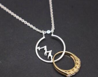 Wedding Ring Holder Necklace Etsy
