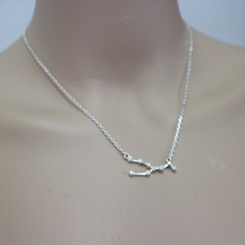 Taurus Jewelry Zodiac Sign Jewelry Birthstone Necklace Sterling Silver Taurus Constellation Necklace Star Astrology Necklace