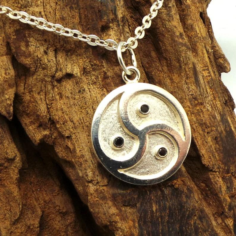 Mens Necklace Pendant Bdsm Symbol Triskele Triskelion Dominant Man Jewelry Gift