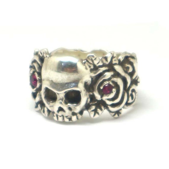 Skeleton Ring GOTHIC death Silver Laughing Skull