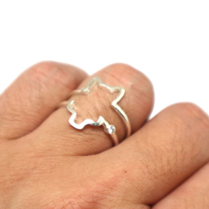 e4ffe548f6 Wolf Alternative Matching Ring for Couple Set Wolf Jewelry   Etsy