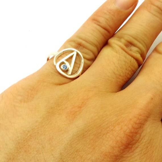 Sterling Silver Atheist Ring Atheist Jewelry Atheism Etsy