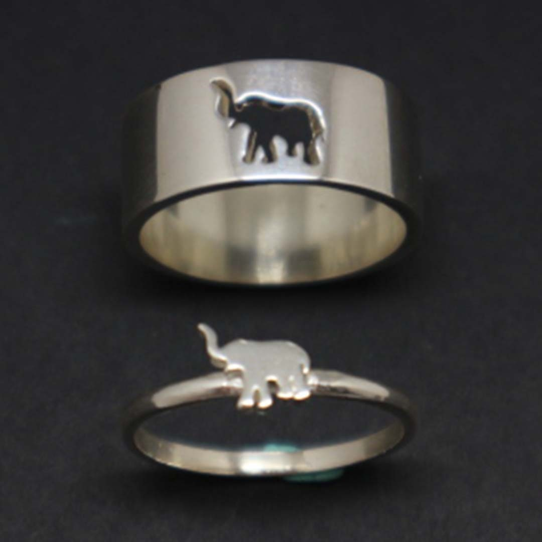 Elephant Band Ring Engagement Ring Anniversary Heart Band Ring Wedding Gift For Her 925 Sterling Silver Handmade Ring