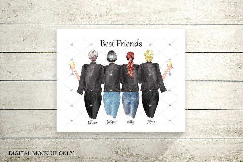 Friendship printbestie gifts gifts for friends best friend image 0