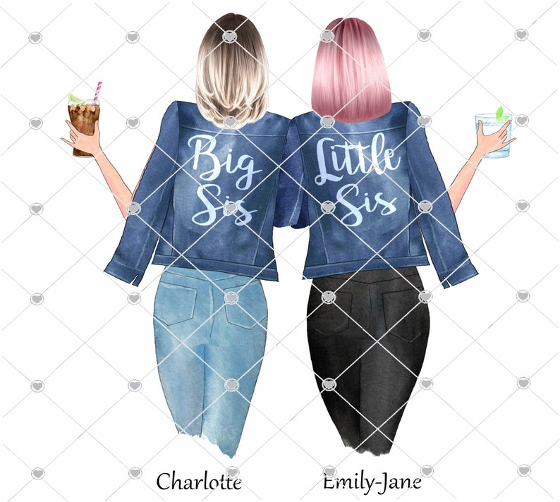 Sisters printgift for Sisters best friend gift friendship image 0