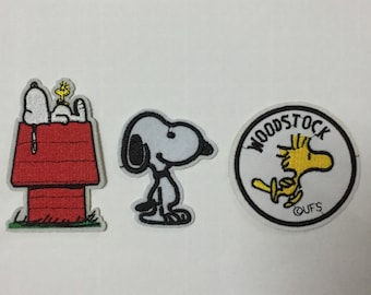 Snoopy Patch Woodstock Patch Cartoon Patches Iron on Patch Applique Embroidered