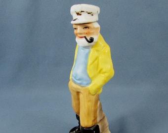"""Seafarer After Shave Lotion Ceramic Bottle - 7-1/4"""" tall - Fuller Brush Company - 1960s - vintage bottle"""