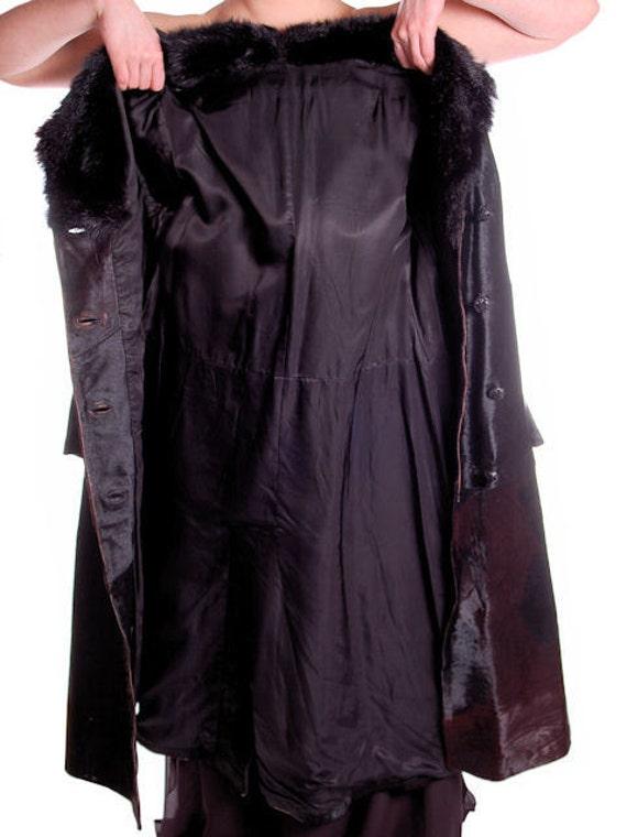 schwarz Mantel Friitala Vintage M Finnland wunderschöne S Leder40 Verkauf lange Damen Büste DeE9YW2HI