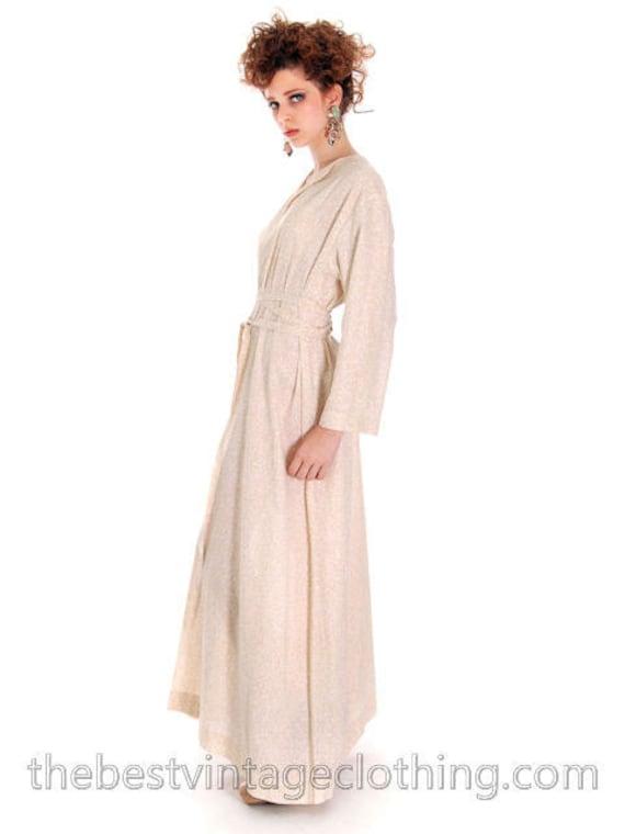 Marimekko Vintage Ivory Printed Dress / 1975  Desi