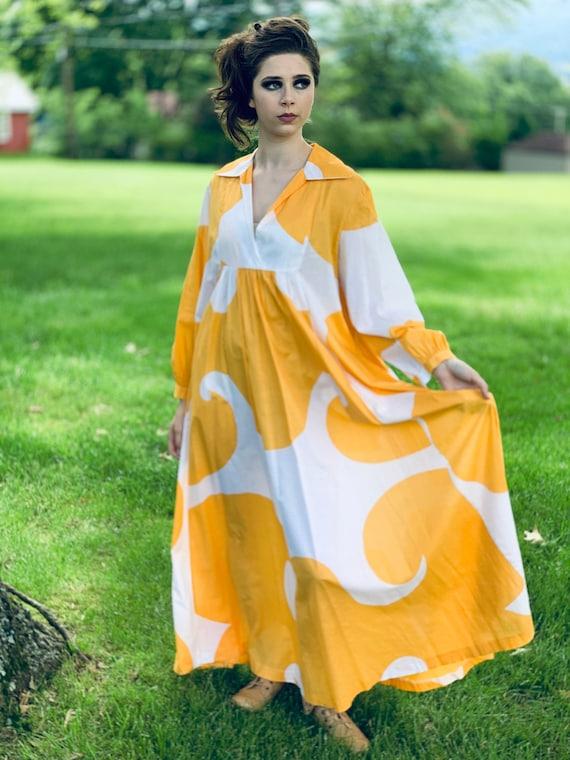 """Marimekko Gown """"Jokeri""""  Annika Rimala Vintage 197"""