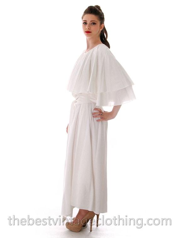 Fab Vintage Vuokko Designer Angel Gown White Cotto