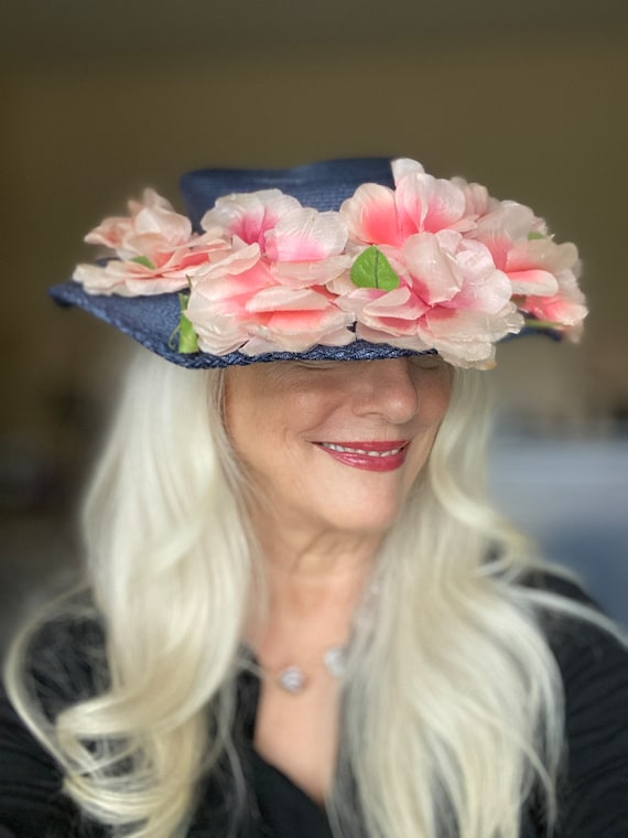 Lovely Vintage 1940s Womens Wide Brimmed  Church … - image 2