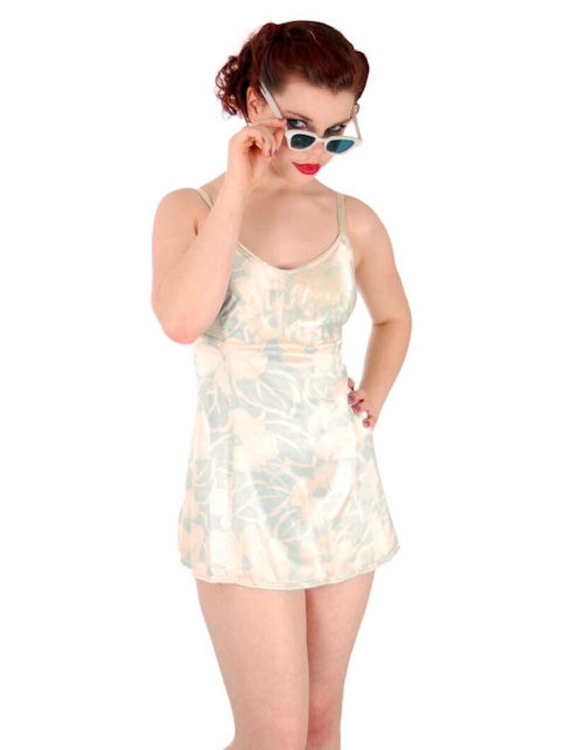 a8f3cc9b23 Vintage Bombshell Swimsuit Bathing Suit Hawaiian Printed Rayon | Etsy