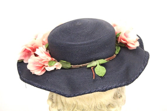 Lovely Vintage 1940s Womens Wide Brimmed  Church … - image 3