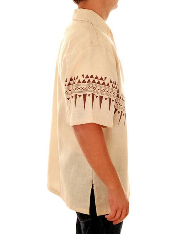 Hawaiian Vintage Shirt Mens Large Tribal Lani Ka 1970s qnvZE