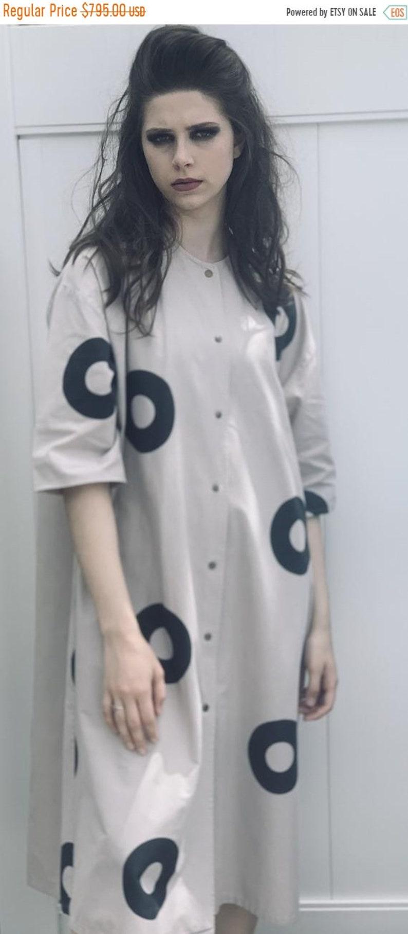 Limited Time 25% Off Vintage Vuokko Beige Womens Dress S Gray image 0