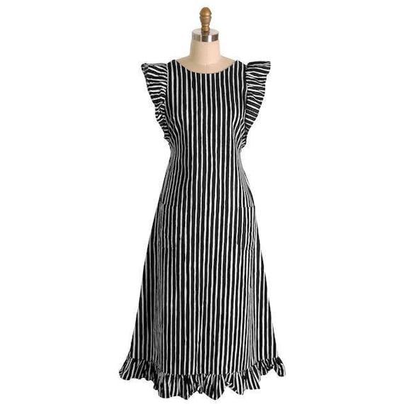 Vintage Marimekko Black & White Stripes Piccolo Jo