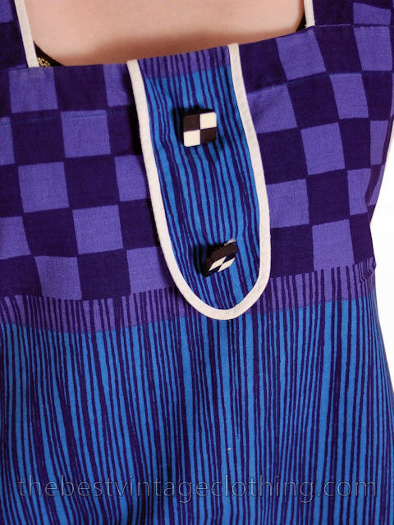 Sale Vintage Pinafore Apron Dress  Tyyli-Essu Oy Lahti Finland S-M 1960s