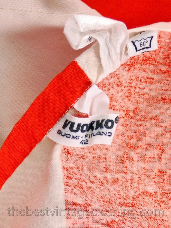 Orange Maxi 1970s M METSÄ Vintage Stripe White Wrap Awning Skirt amp; Vuokko 7a11pqxH