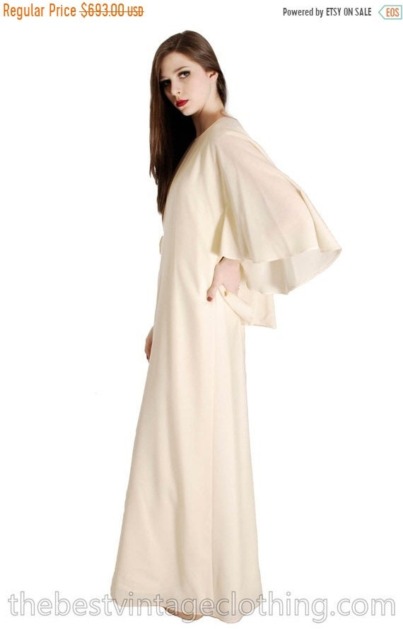 Sale Today Stunning Vuokko Circle Cape Gown 1960s… - image 1
