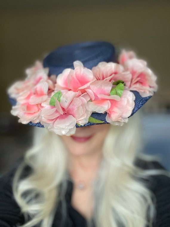 Lovely Vintage 1940s Womens Wide Brimmed  Church … - image 1