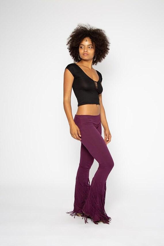 Fringe Belly Dance Pants Boho Bell Bottoms Boho Flares Hippie Clothing Supreme Clothing