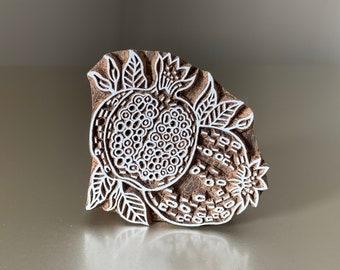 Textile Stamp Tjaps Hand Carved Blocks- Adinkra Symbol Pottery Stamp Indian Wood Stamps