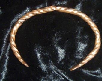 Quad-twist Hammered Copper Bracelet