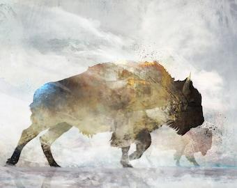 Wind Walk 03: Giclee Fine Art Print