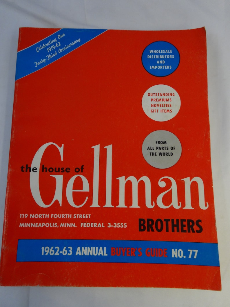 Novelty Gift Catalogs >> Vintage 60s House Of Gellman Brothers Novelty Halloween Gaming Etsy