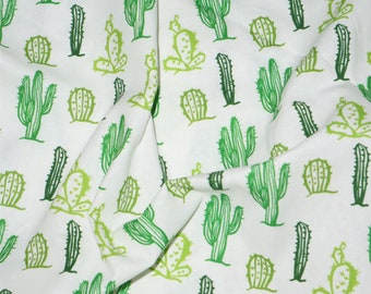 Cacti Southwestern Cactus Plants Pastel Colors Cotton Fabric BTHY
