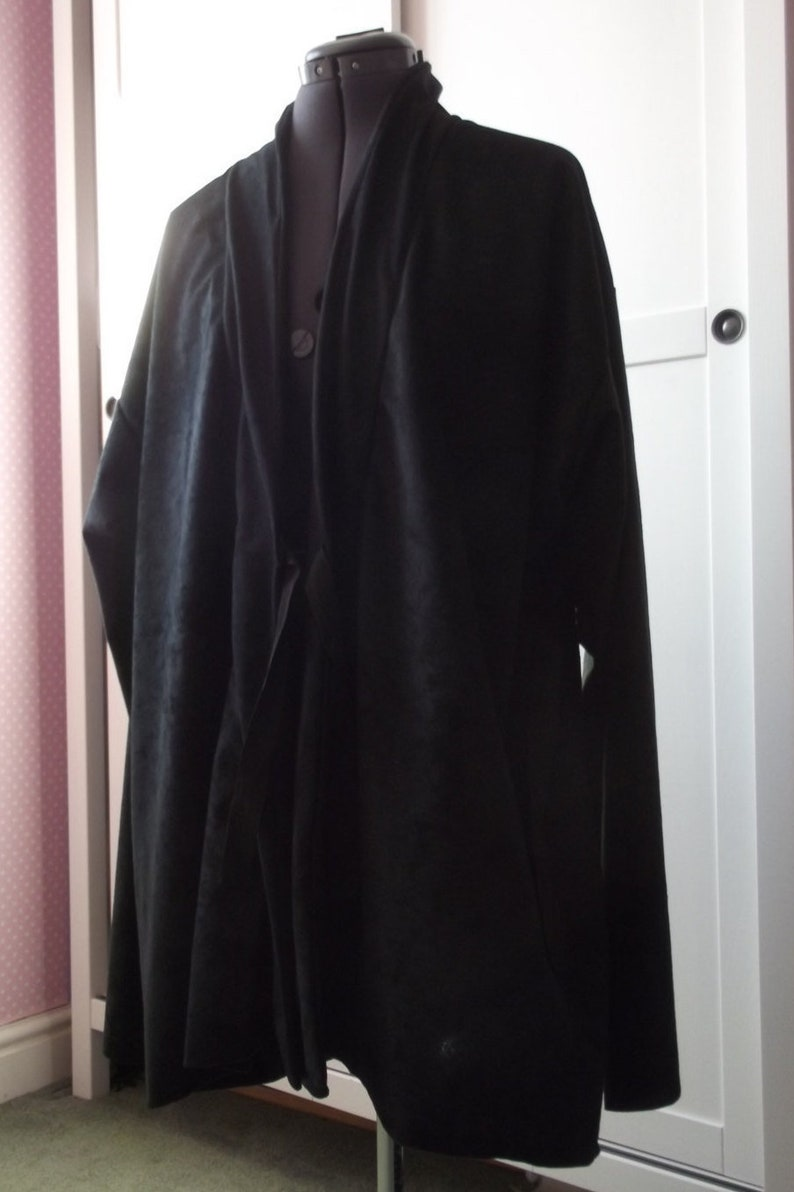 Star Wars Last Jedi Sith black tunic robe with or without hood short or long sleeve in suedette fabric warrior knight cosplay color choice