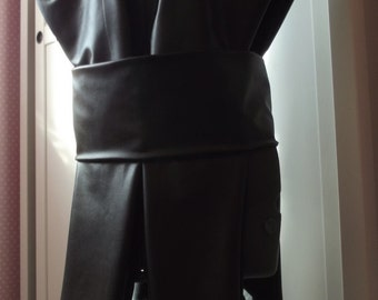 Star Wars Jedi Sith tabard shoulder armor ninja warrior knight in soft pleather or suedette fabric for cosplay - Extra long length version