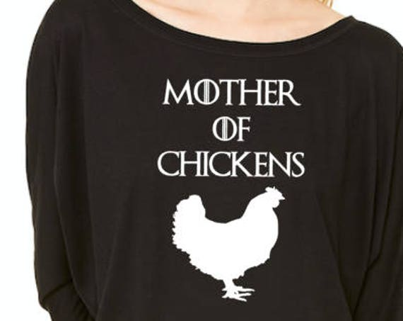 Mother of Chickens Flowy off the Shoulder Long Sleeve T-shirt