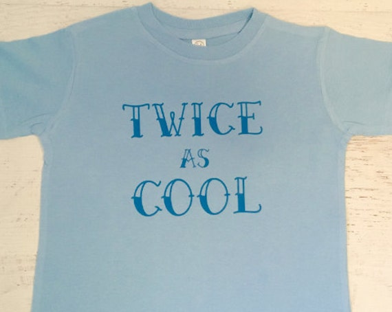 Twice as Cool Two Year Old Birthday Funny Toddler T-shirt
