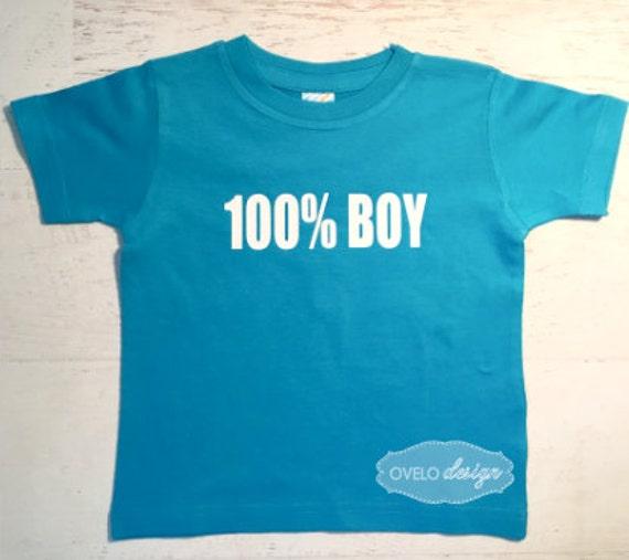 100% BOY T-shirt Pick your Colors